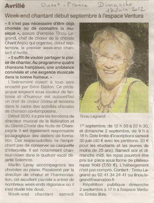 Ouest France 17 juin 2012