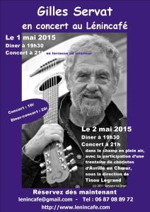 Affiche-concert bleue